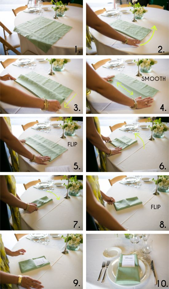 Get Sh*t Done: How to Set A Table #foldingnapkins