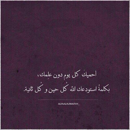 استودعك الله الذي لا تضيع ودائعه Arabic Love Quotes Romantic Quotes Love Words