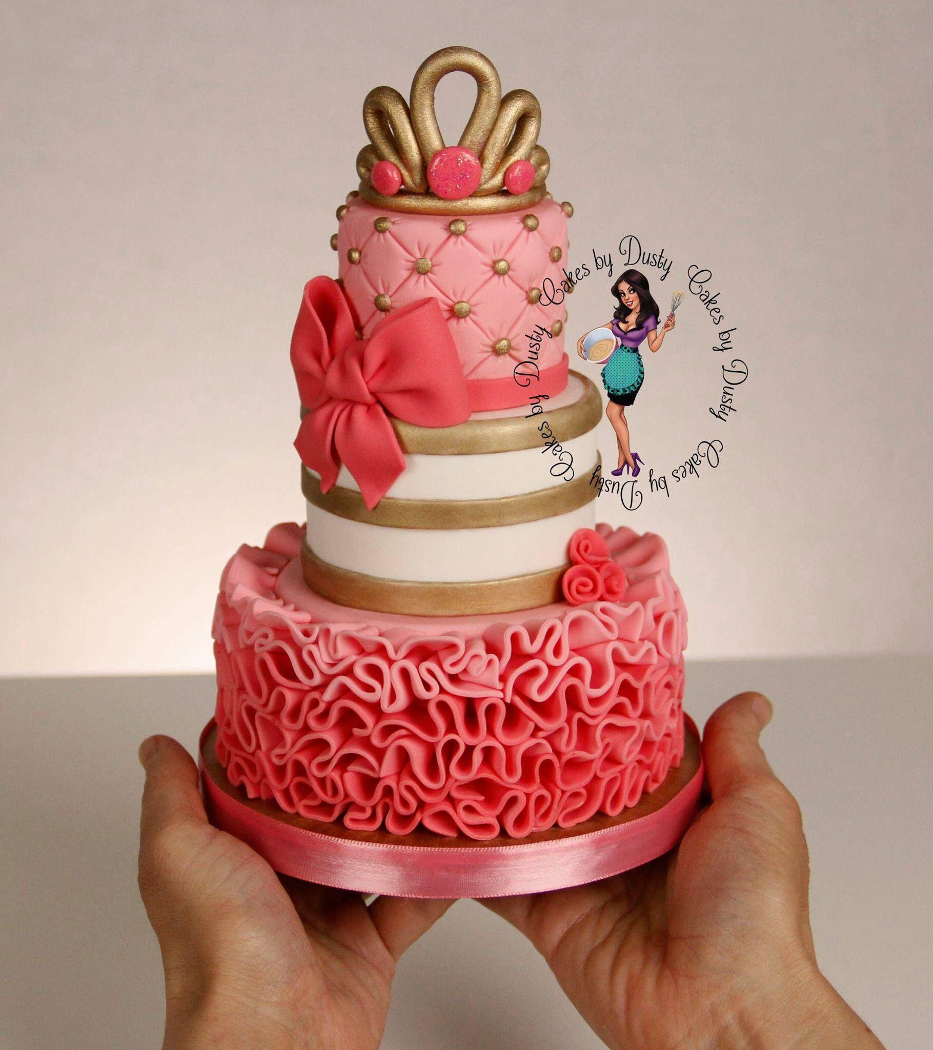 Mini tiered ruffle cake  Cakes  Pinterest