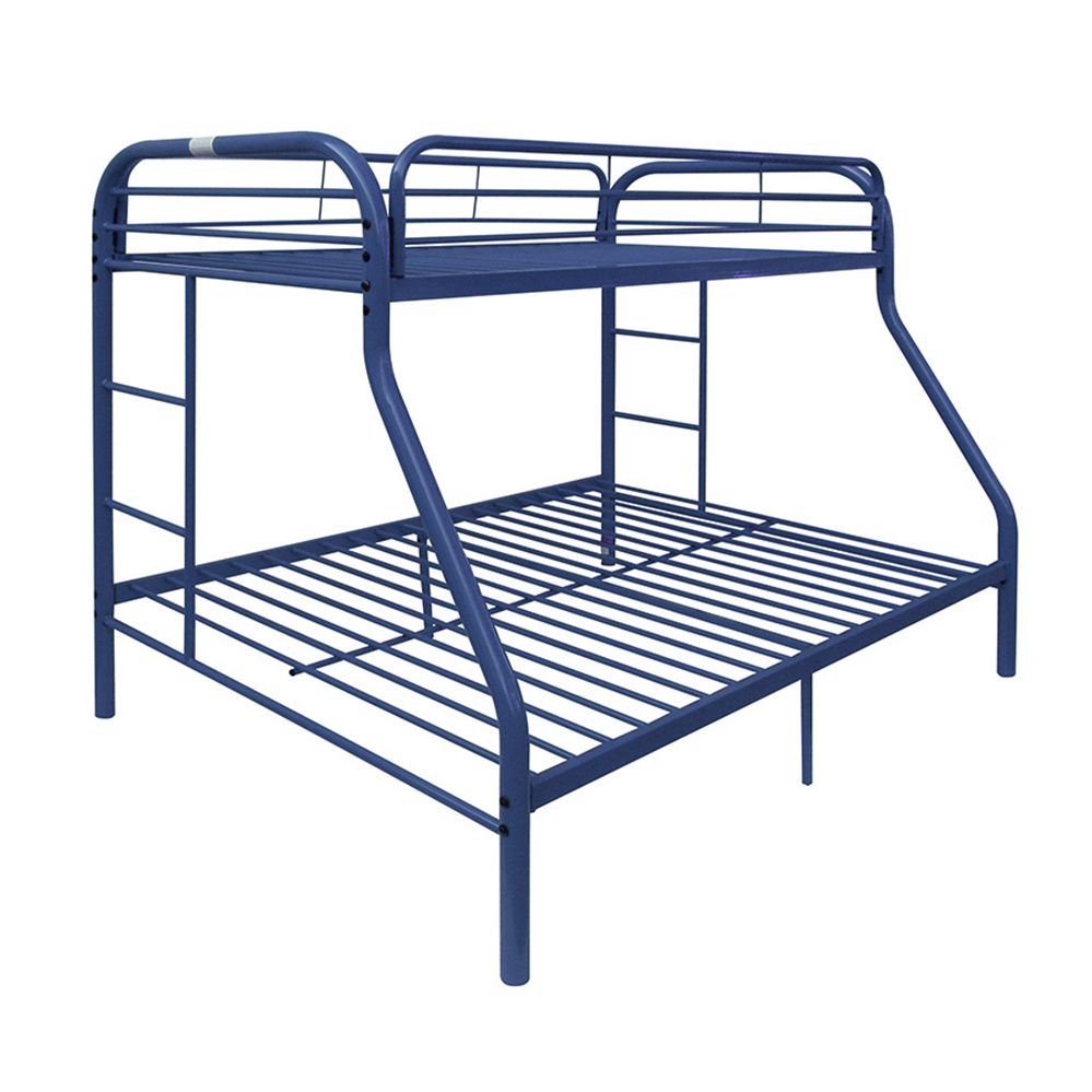 Acme Eclipse Twin Over Full Metal Bunk Bed Blue Walmart Com Bunk Beds Twin Full Bunk Bed Metal Bunk Beds