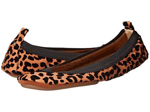 Yosi Samra Samara Flocked Leopard Leather Flat Sienna - Zappos.com Free Shipping BOTH Ways