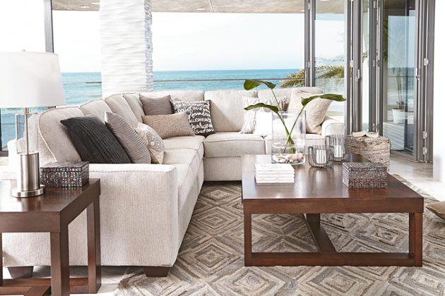 Sand Salonne 3-Piece Sectional View 3 : ashley furniture 3 piece sectional - Sectionals, Sofas & Couches