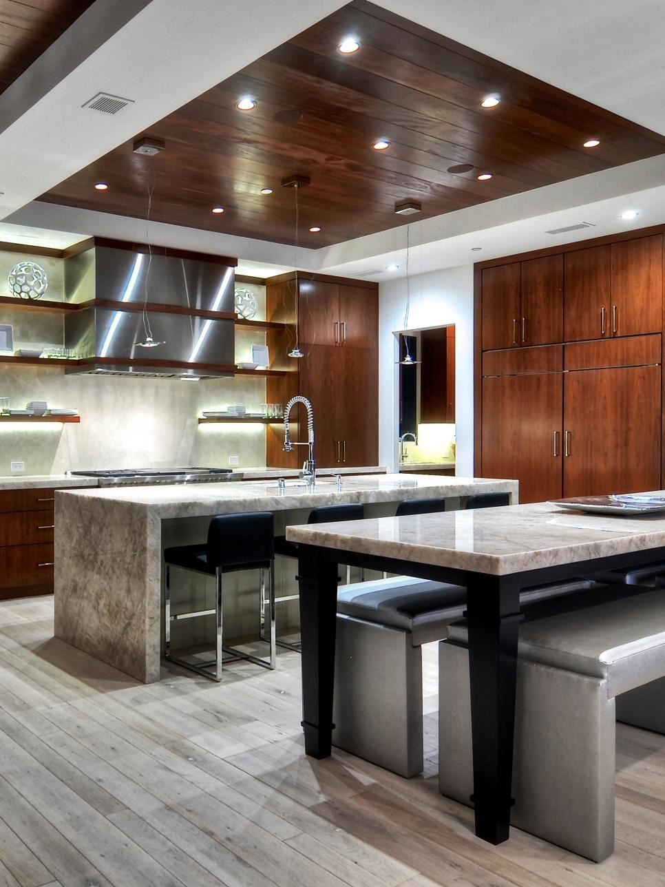 Design Ideas For A Recessed Ceiling Spacious Kitchens Ceiling