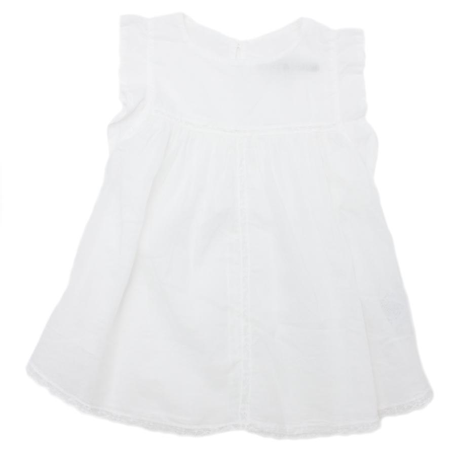 Da 2 anni a 12 anni femmina maglia a maniche corte color bianco in cotone capo fresco e confortevole - P/E 2016