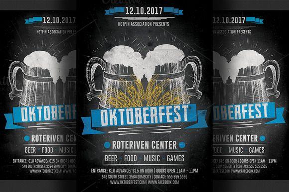 Oktoberfest Flyer Template | Flyer template, Templates and Creative
