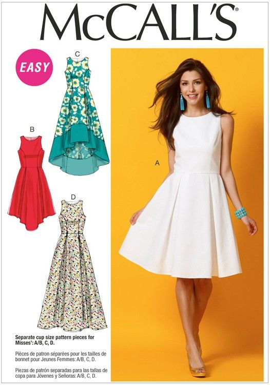 Misses Dresses McCalls Pattern 6953. | Dress options | Pinterest ...