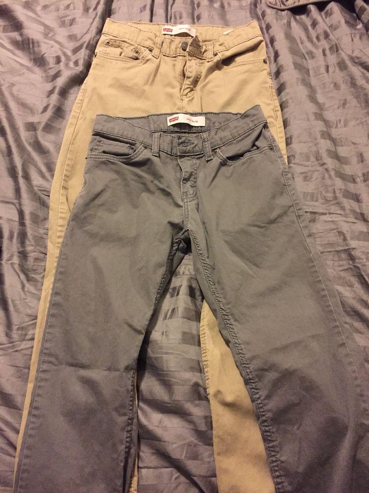 4ef459053659 Levis 511 Slim 27x27 Boys Size 14 Regular Pants Lot  fashion  clothing   shoes