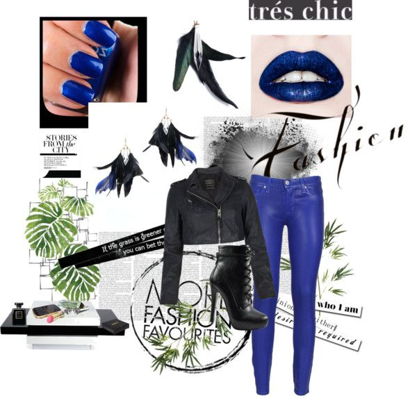 """""""Blue Feathers"""" by bougie-bees-boutique on Polyvore"""