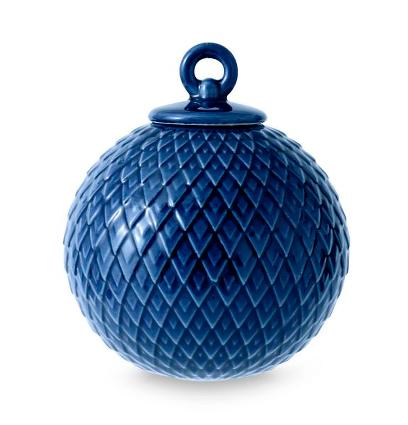 Lyngby Porcelæn - Rhombe kugle mørk blå