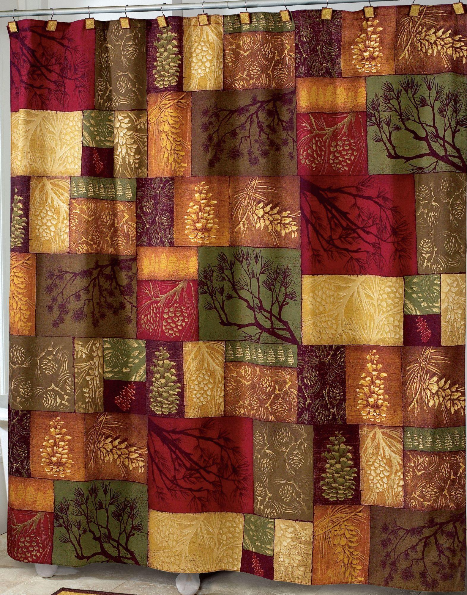 Adirondack Shower Curtain Fabric Shower Curtains Rustic