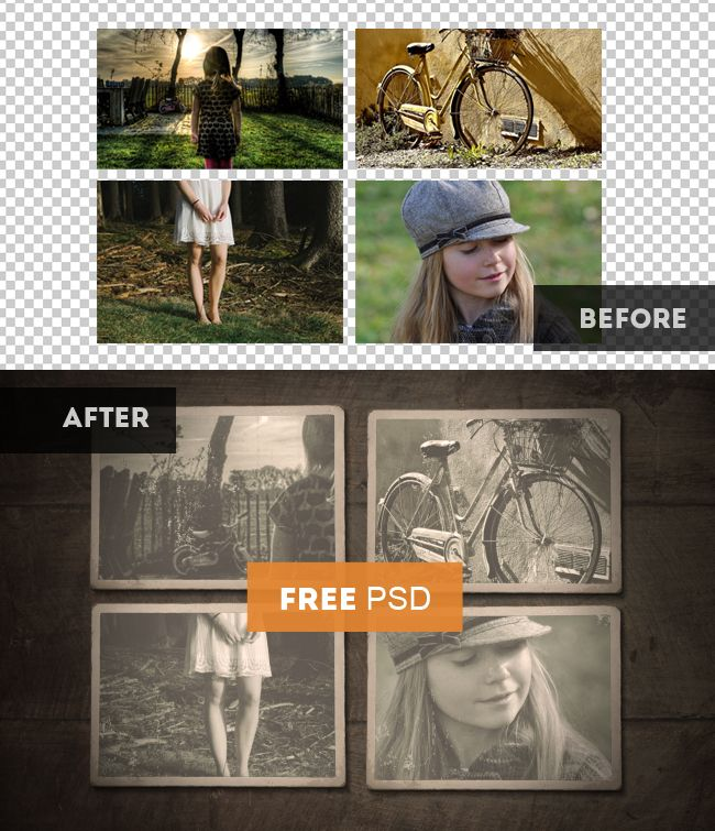 Vintage Old Photo Template With Free Psd Old Photos Photo Template Old Photo Effects