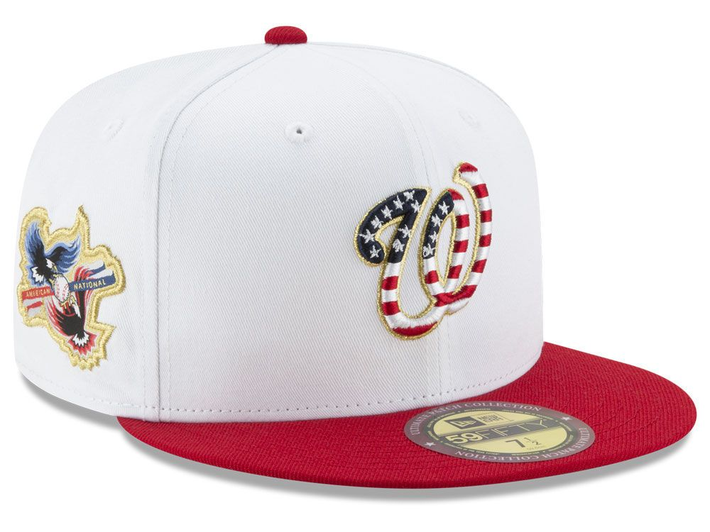 sneakers for cheap 580af a9977 Washington Nationals New Era MLB Americana Ultimate Patch Collection  59FIFTY Cap