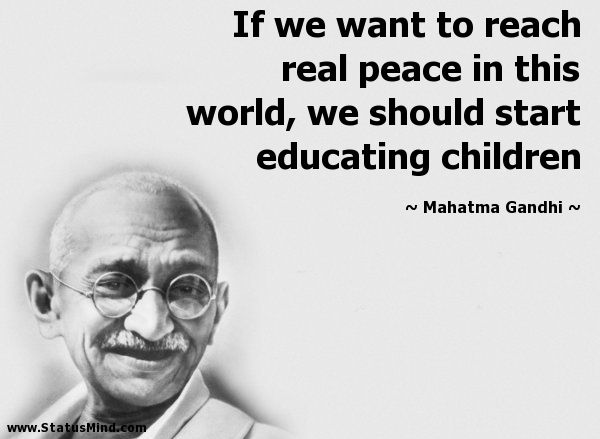 mahatma gandhi quotes children - Google Search (With images ...