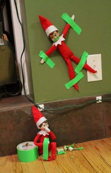 Funny christmas hilarious elf on the shelf 50 ideas for 2019 #lutincoquin