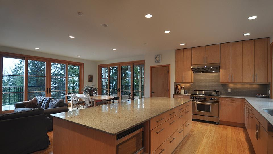 Contemporary Kitchen with Ceramic Tile, European Cabinets, LG ...