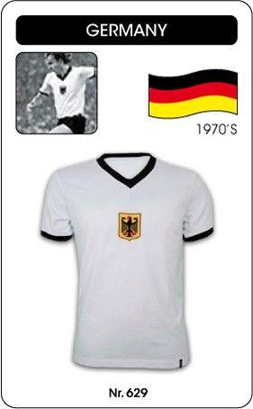 a554b4fdc41 BRD (West-Duitsland) voetbalshirt jaren '70 (korte mouw) Dit voetbalshirt