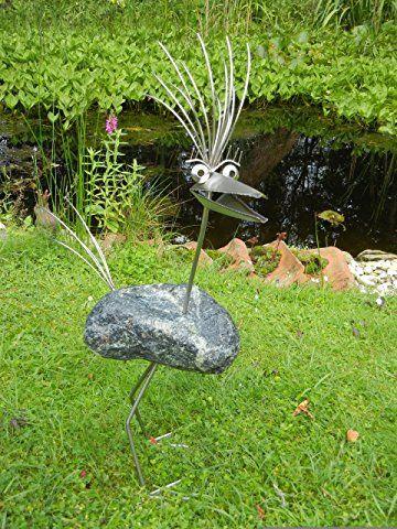 Erika Stehend Grosse L Ca 70 Cm Hoch Steinvogel Aus Edelstahl Und Stein Ein Schoner Gartenvogel Die Besondere In 2020 Metallkunstprojekte Gartenfiguren Steine