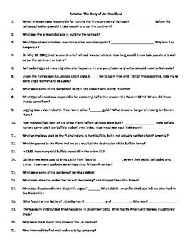 This Is A Worksheet To Accompany The Video Series America The