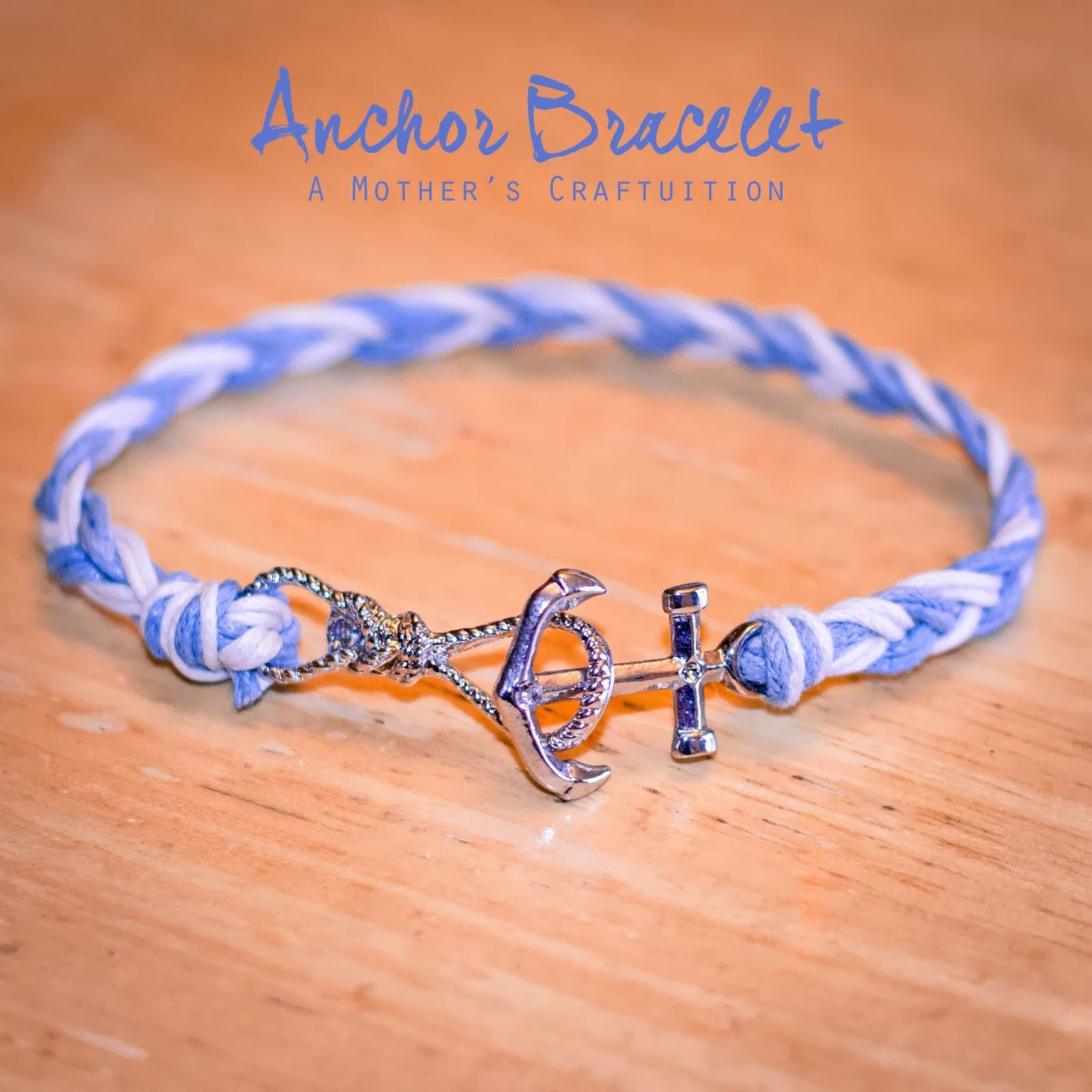 A mothers craftuition anchor bracelet nautical diy handmade a mothers craftuition anchor bracelet nautical diy handmade jewelry solutioingenieria Image collections