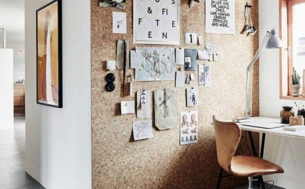 Design Arbeitszimmer ~ Ideen für kreative wandgestaltung arbeitszimmer korkwand selber