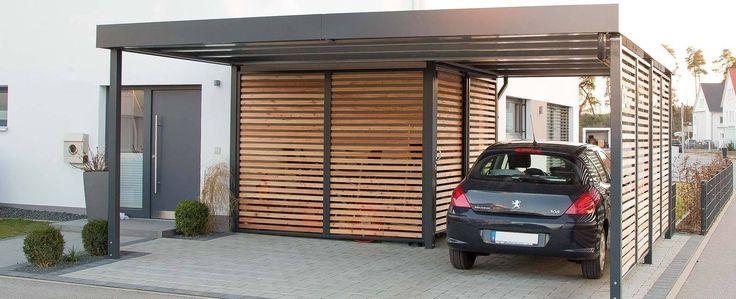 Carport Mit Integriertem Gerateraum Garage Schuppen Von Pin Blog In 2020 Moderne Garage Carport Modern Carport Stahl