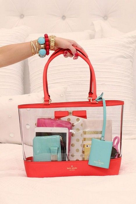 20 Looks With Clear Bags Glamhere Com Kate Spade New York Kate
