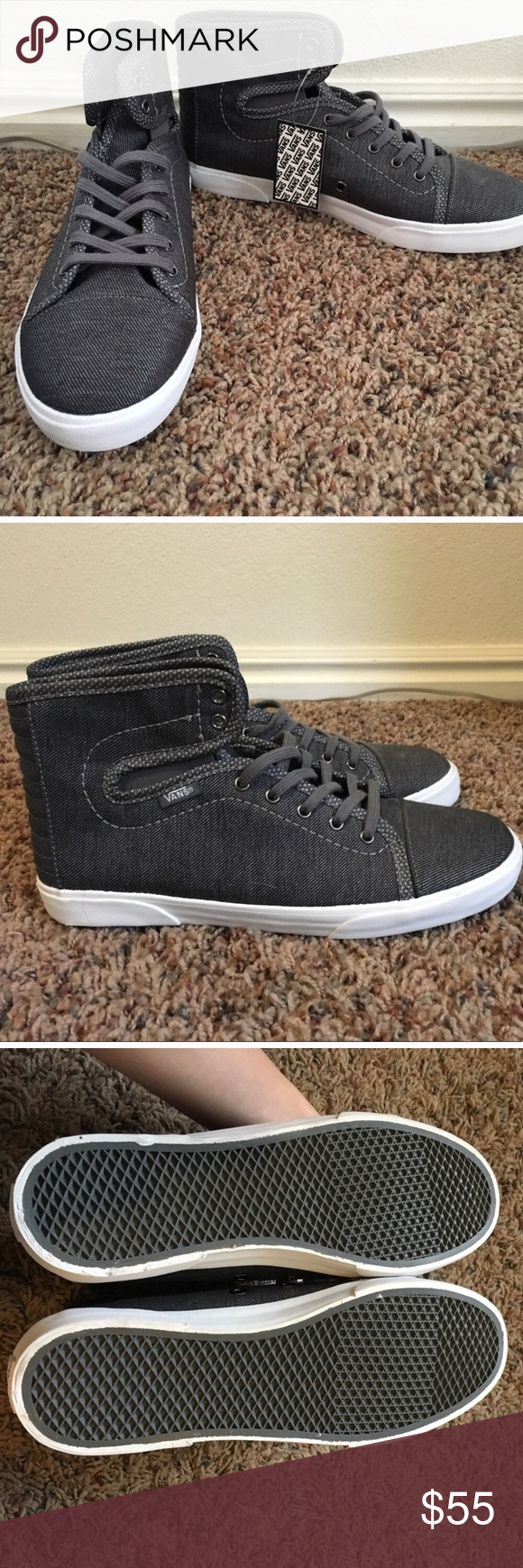 RARE Vans high tops Never worn!! Pretty sure they don t make these specific  ones anymore. Comfortable and stylish Vans Shoes Sneakers 141bd8f91