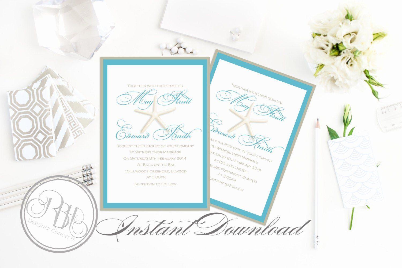 3x3 Wedding Invitation Template Beautiful Beachside Wed  Wedding
