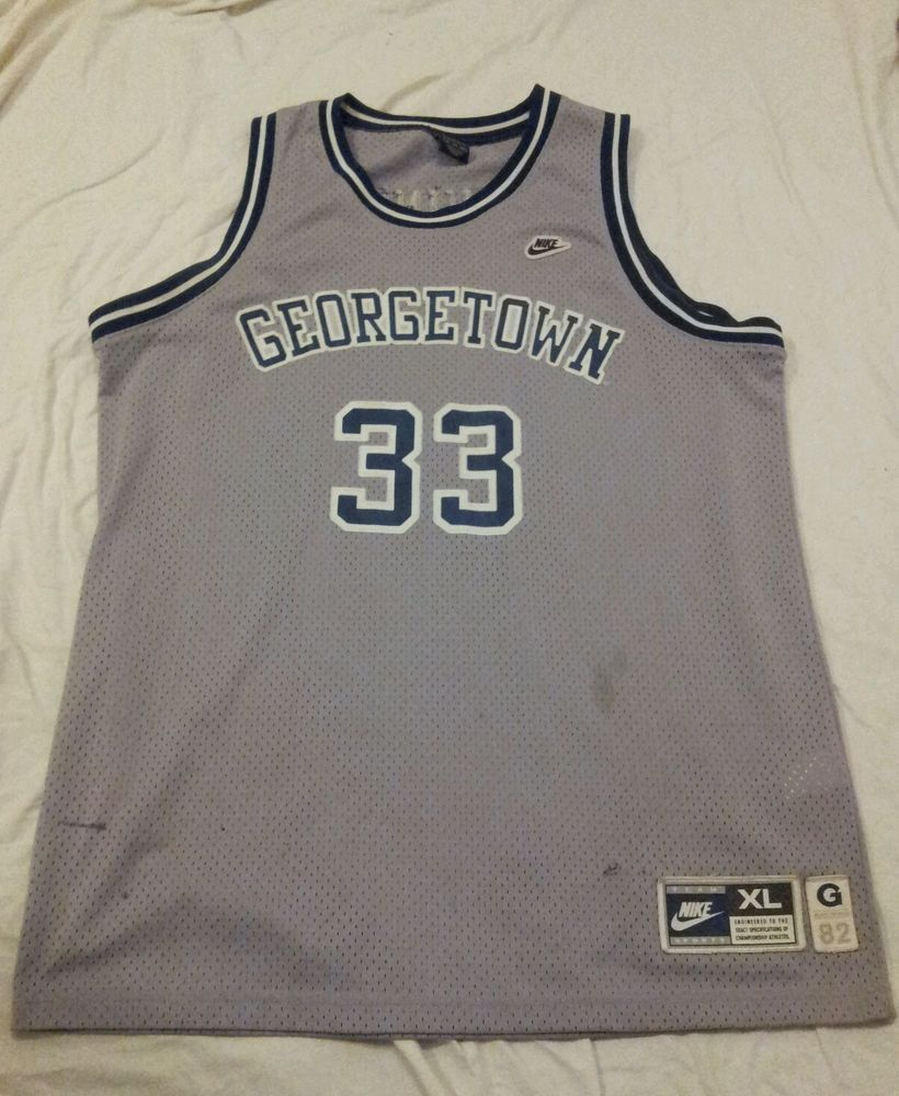 100% authentic be386 dc147 Details about Patrick Ewing #33 Georgetown Hoyas College ...