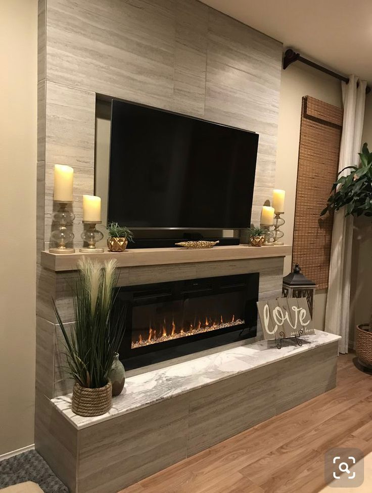 Tv Unit Home Fireplace Living Room With Fireplace Recessed