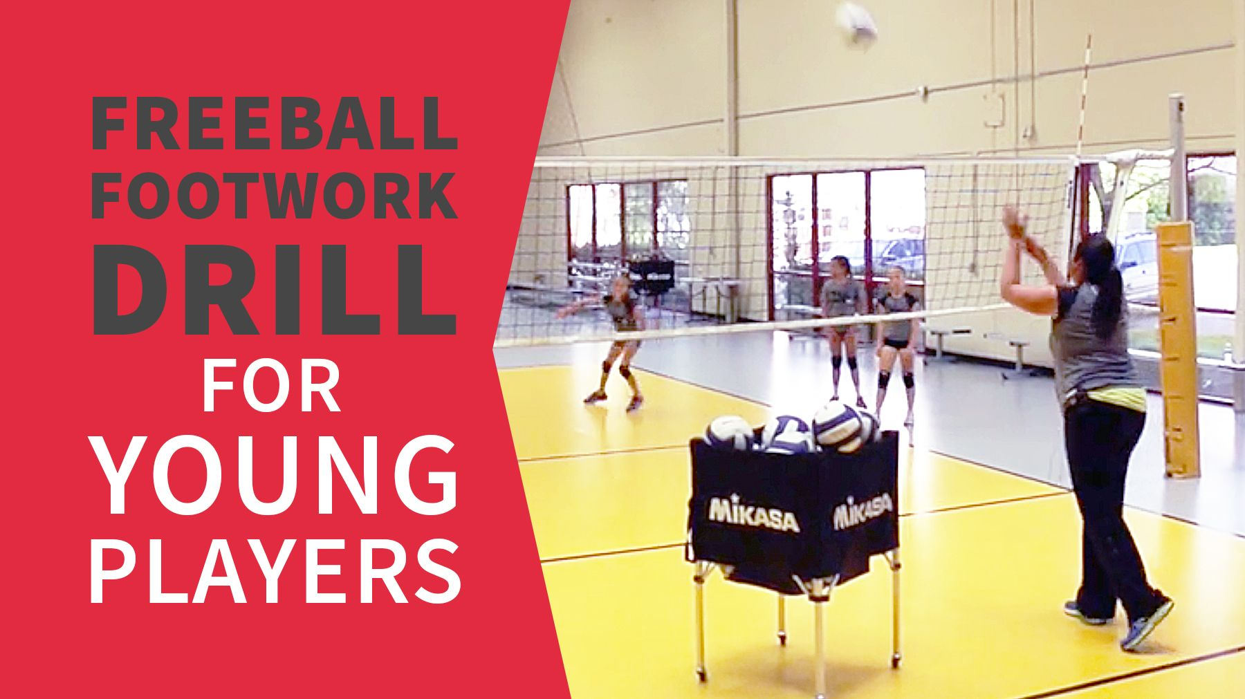 Freeball Footwork Drill For Young Players The Art Of Coaching Volleyball Coaching Volleyball Volleyball Drills For Beginners Volleyball Training