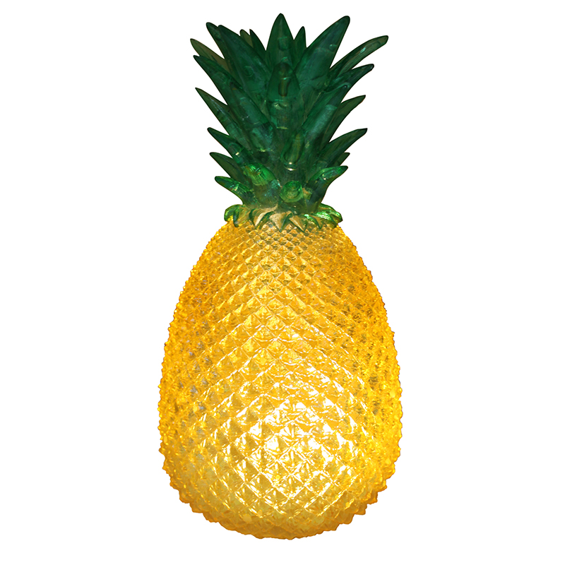 House of disaster Yellow Cut Glass Effect Retro Pineapple Lamp - Trouva