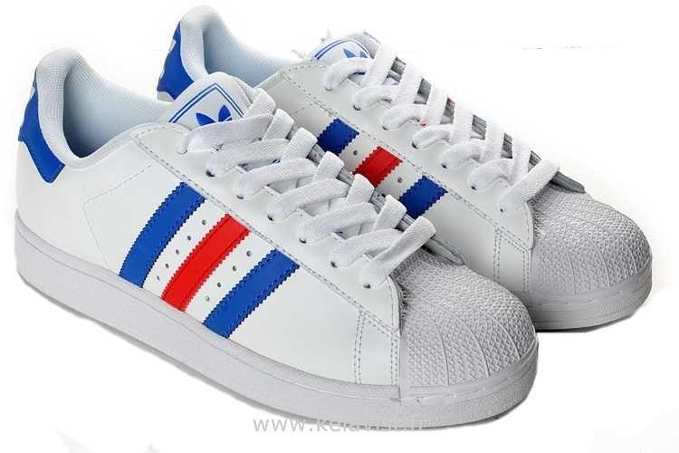 adidas femme superstars bleu blanc rouge