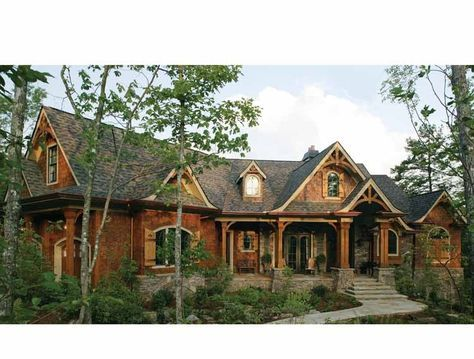 Craftsman Style House Plan 3 Beds 2 5 Baths 2611 Sq Ft Plan 54 364 Craftsman Style House Plans Mountain House Plans Cottage House Plans