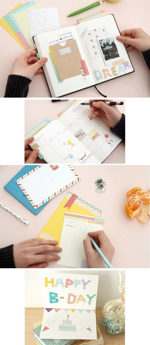 Personalize your stationery with masking tape!
