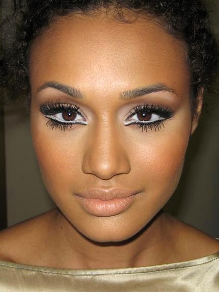 White Eyeliner Brown Eyes Brown Skin White Eyeliner No Eyeliner Makeup Gorgeous Makeup