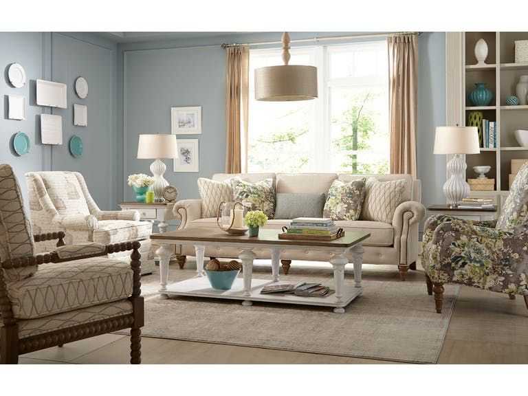 Paula Deen By Craftmaster Living Room Sofa P763250BD   Tyndall Furniture  Galleries, INC   Charlotte