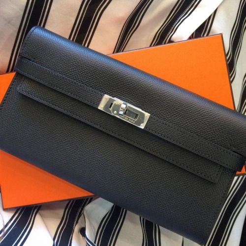 71d6c46fb77df Hermes Black Epsom Kelly Wallet! So Chic! Love It! | Hermes Handbag ...