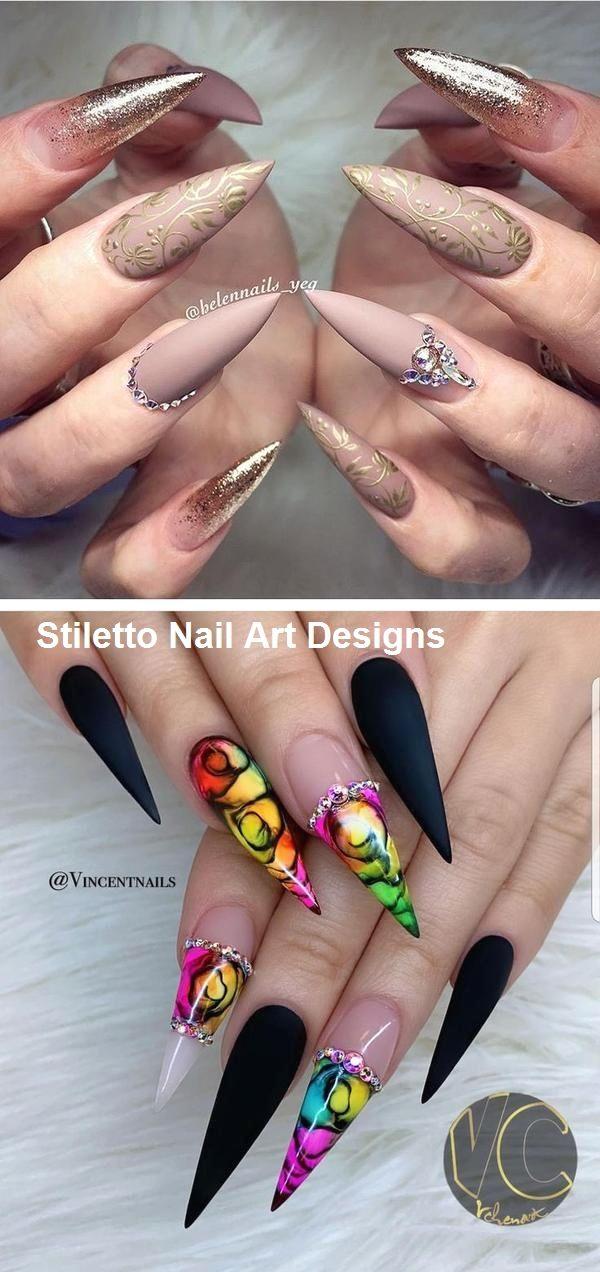 30 Great Stiletto Nail Art Design Ideas 9 Stiletto Nail Art