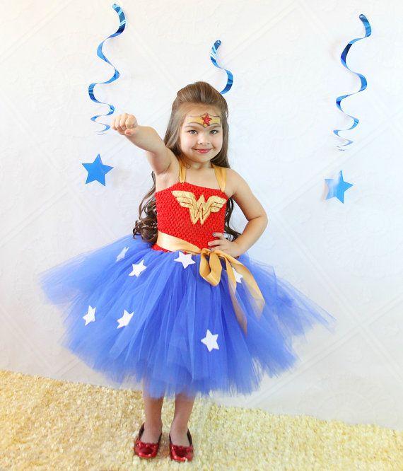 Wonderwoman Tutu Dress Wonder Woman Costume Wonderwoman Dress Superhero Party Gir Girl Superhero Party Wonder Woman Costume Diy Girl Superhero Costumes