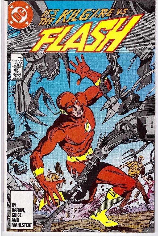 Flash 3 Aug 1987 DC Comic Book Vs The Kilgre Kilgore