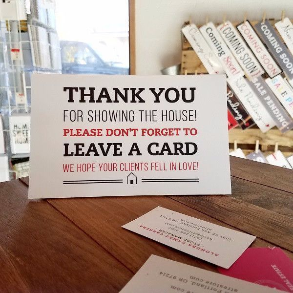 Leave a card white home staging tips pinterest business remind other agents to leave a business card at your listing printed on pvc durable 8 x 5 homestagingtips colourmoves