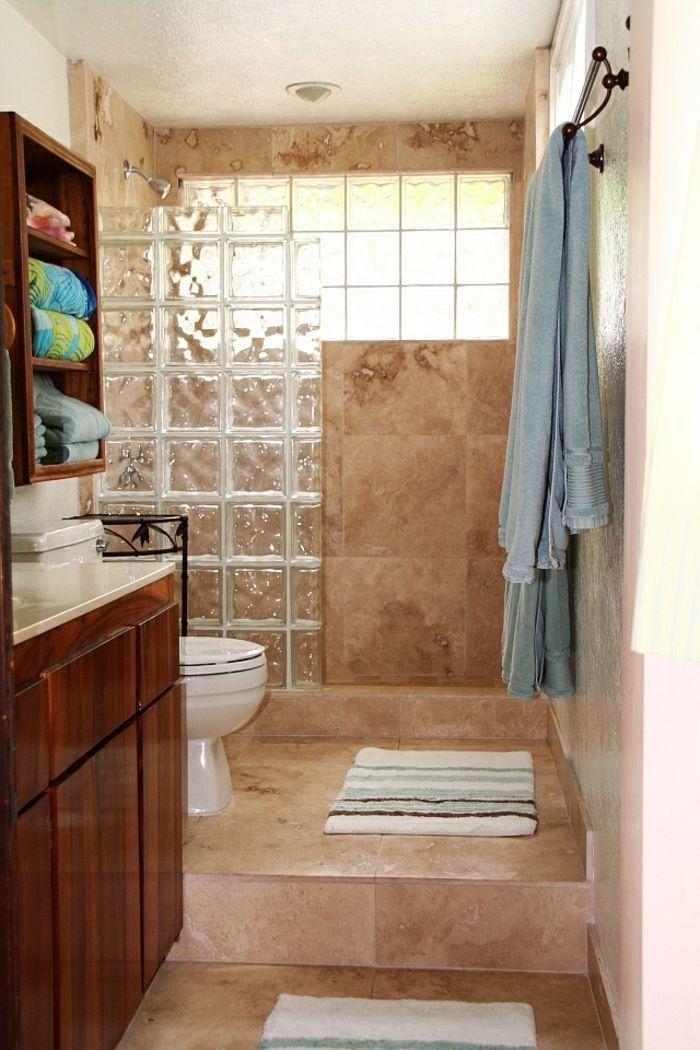 mettons des briques de verre dans la salle de bains brique de verre pinterest mur en. Black Bedroom Furniture Sets. Home Design Ideas