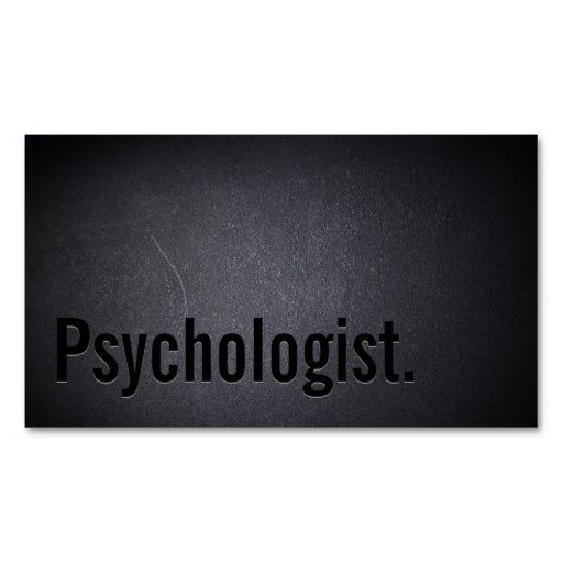 Professional Black Out Psychologist Business Card. This is a fully customizable business card and available on several paper types for your needs. You can upload your own image or use the image as is. Just click this template to get started!