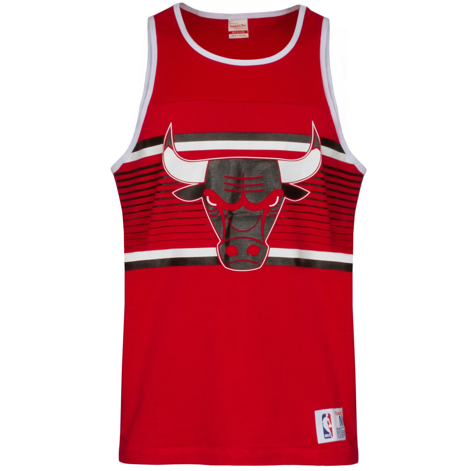 Chicago Bulls Mens Red, Black, and White Primary Logo Tank