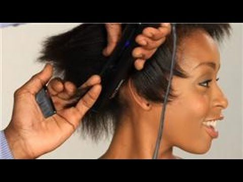 Video Flat Iron Styling Rules For Short Relaxed Hair Relaxed Hair Medium Hair Styles How To Curl Short Hair