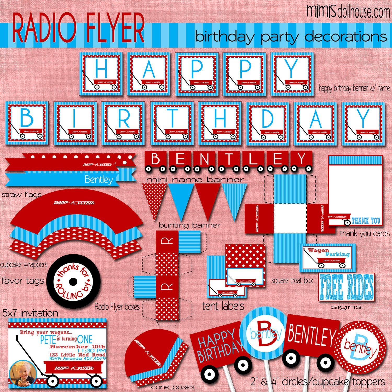 Red Wagon Party Decorations Radio Flyer Birthday