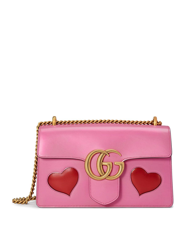 ca22f6d7743 GG Marmont Medium Heart Shoulder Bag Pink Multi