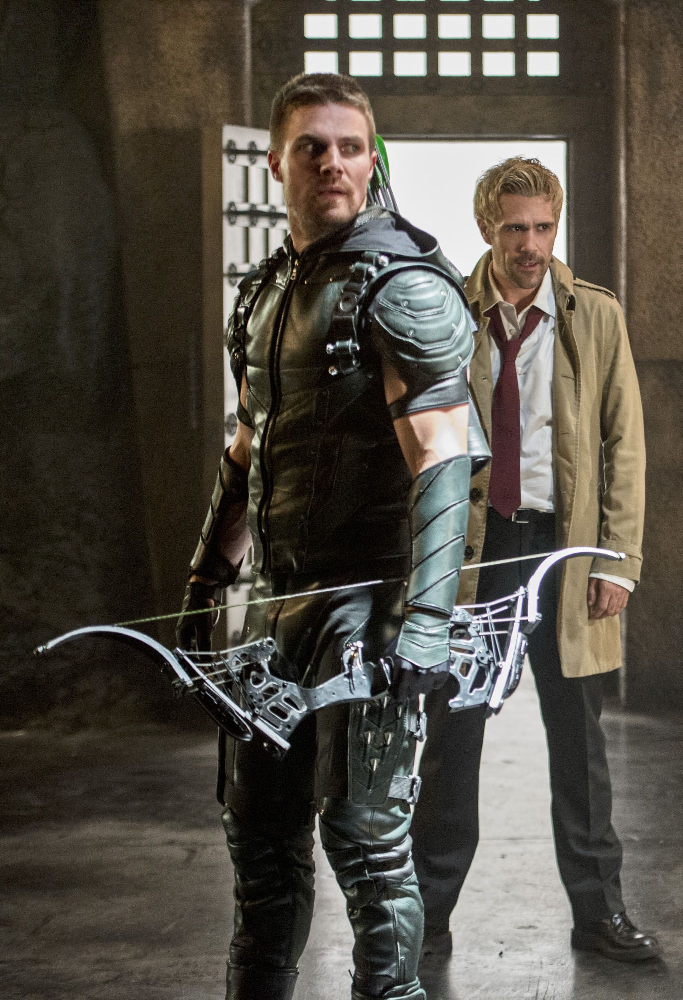 Oliver Queen Tattoo From Constantine: Oliver & John Constantine. Can The Guy With