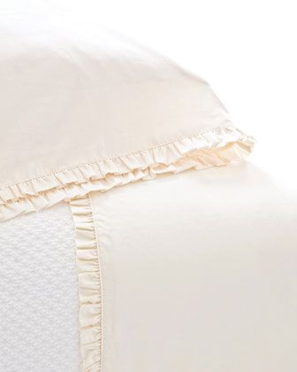 """""""Classic Ruffle"""" Sheet Sets by Pine Cone Hill at Horchow."""